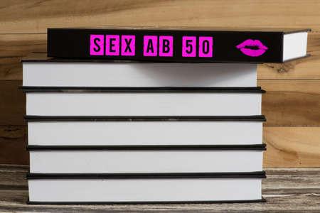 A book titled Sex from 50 Standard-Bild - 116655783