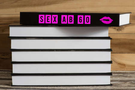 A book titled Sex from 60 Standard-Bild - 111673323