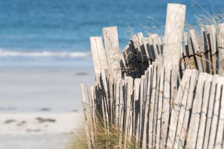A fence on the beach