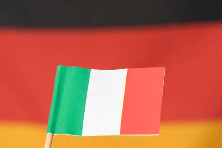 Flag of Germany and Italy Stock Photo