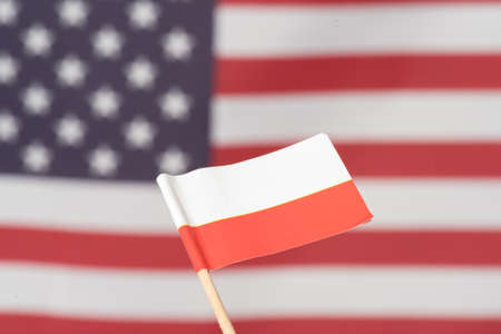 Flag of America and Poland