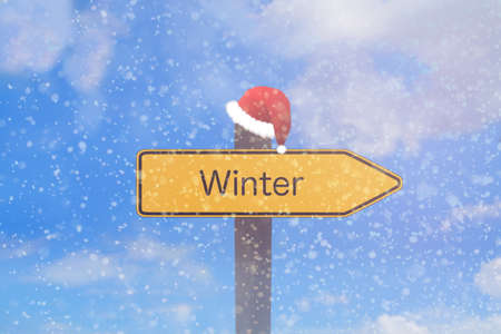 A sign indicates the winter