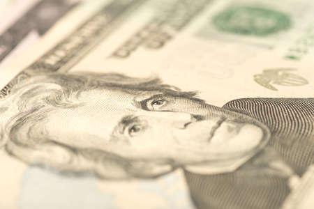 Close-up of a dollar bill