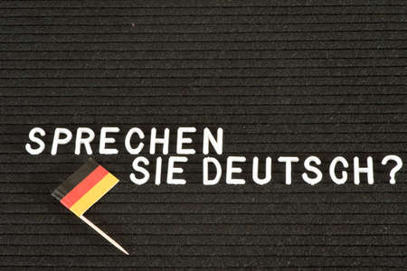 German flag and question Do you speak German?