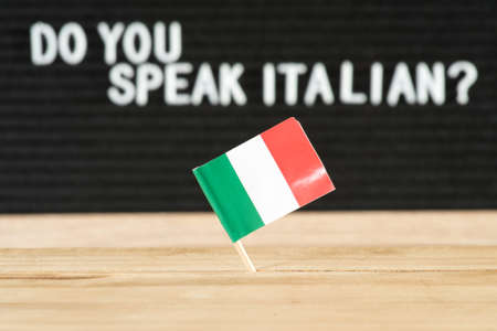 Flag of Italy and question Do you speak Italian