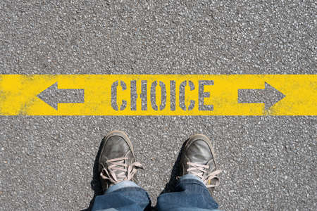 A man faces a choice and a decision
