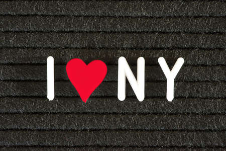 A blackboard and slogan I love New York Stok Fotoğraf