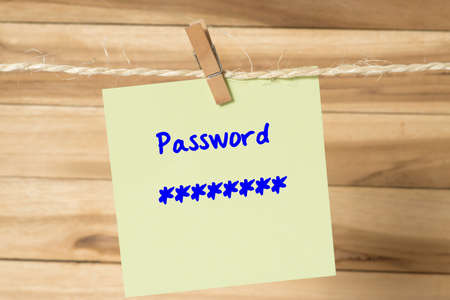 A message on a clothesline and a password for a login