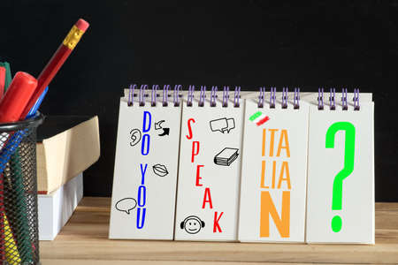 Italian language dictionary, textbook and question Do you speak Italian?