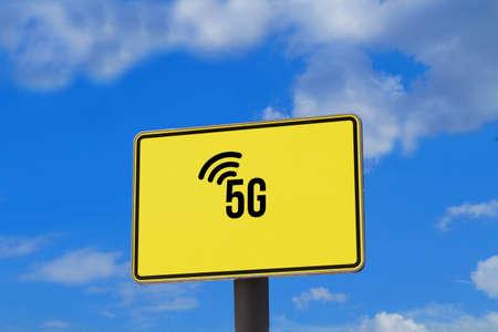 Znak miasta wskazuje na nową generację mobilnego 5G