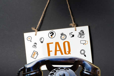 A telephone and FAQ Frequently asked questions