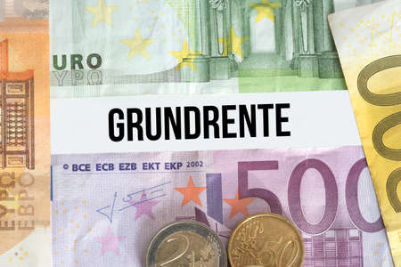 Euro banknotes and ground rent