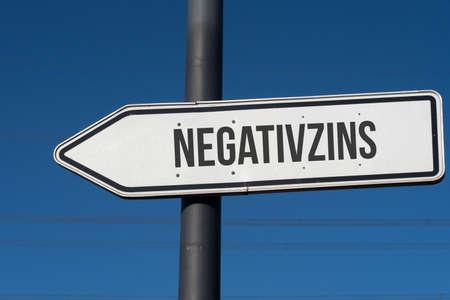 An arrow indicates negative interest rates