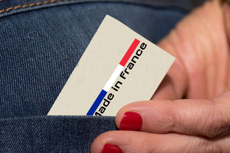 A woman and slogan Made in France