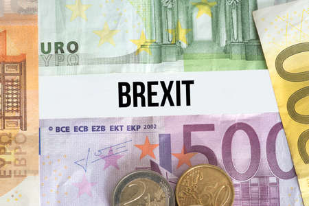 Euro bills and expenses for the Brexit
