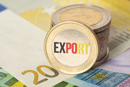 Euro banknotes and coins and export in Germany