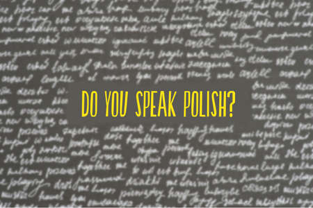 Language school and question Do you speak Polish? Banco de Imagens