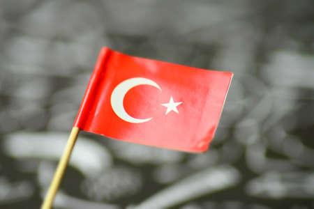 Close-up of the national flag of Turkey 版權商用圖片