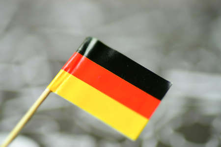Close-up of the german national flag