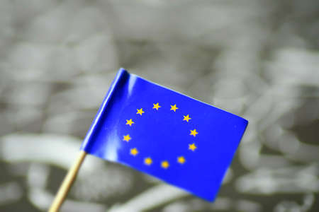 Close-up of the flag of the European Union EU