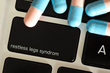 Tablets and computer with a button for restless legs syndrome