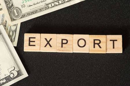 Dollar bills and export from the USA