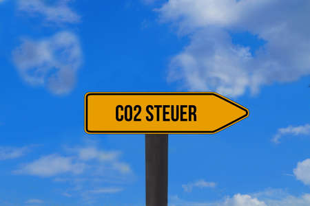 A sign indicates the Co2 tax
