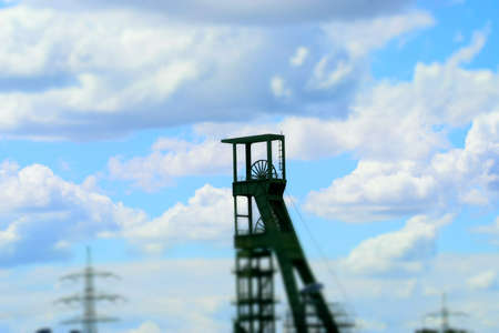 A winding tower in a coal mine