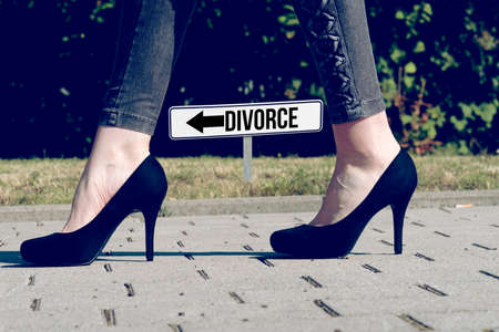 A woman and the divorce