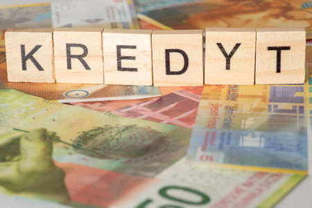 Swiss franc and polish word for credit