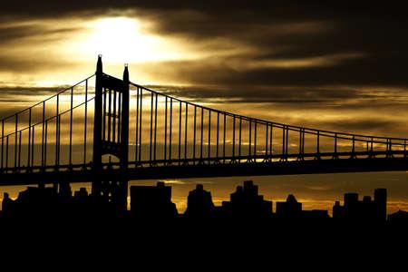 Bridge in New York Stock fotó