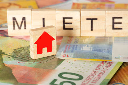 Swiss franc and the rent for a house Stock fotó
