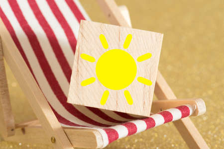 Sun on a deck chair