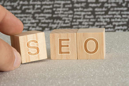 Dicing and SEO Search Engine Optimization Stok Fotoğraf
