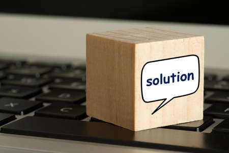A computer and the word solution