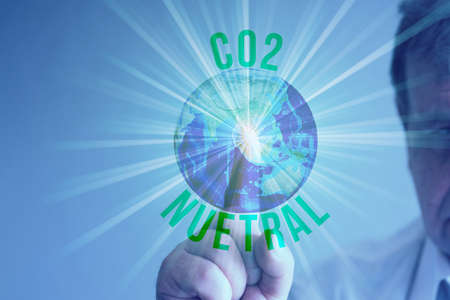 One man, Earth and Co2 Neutral