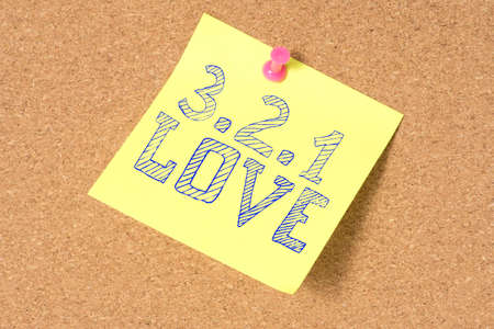 A note and countdown to love