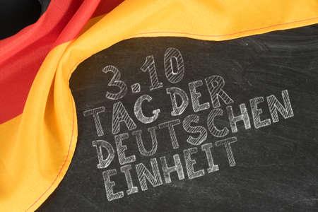 Drapeau de l'Allemagne et jour de l'unité allemande