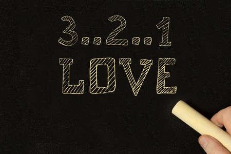 Der Countdown zu einer neuen Liebe Standard-Bild