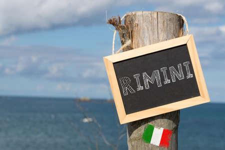 The sea and primeval mood in Rimini Italy