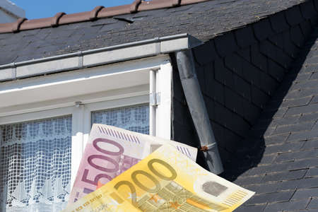A house and euro money