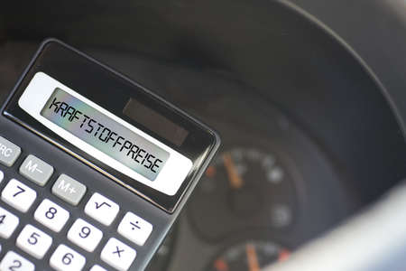 Fuel gauge in the car, calculator and fuel prices