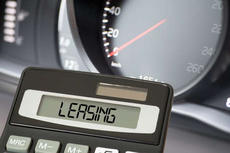 A car, calculator and leasing
