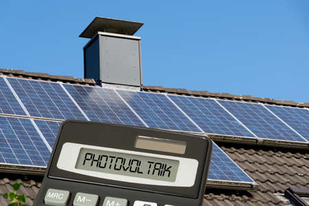 A calculator and a solar system