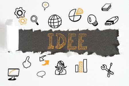 Different symbols and an idea Stok Fotoğraf