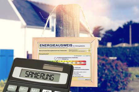 A house, energy certificate and costs for renovation