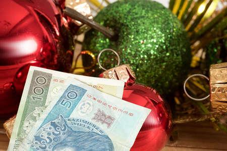 Christmas and Polish zloty PLN moneyschenie