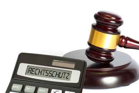 A gavel and calculator for legal protection