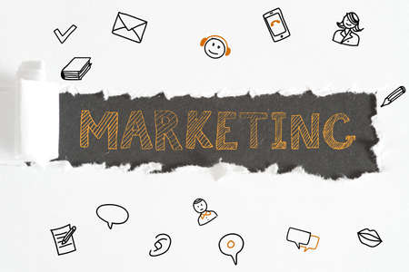 Marketing and different icons Фото со стока