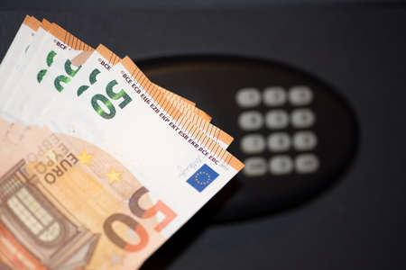 A safe and euro banknotes